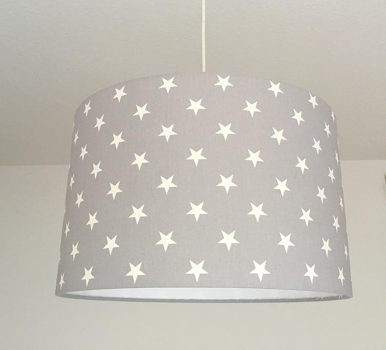 Deckenleuchte Kinderzimmer Lampenschirm Kinderzimmer Sterne grau