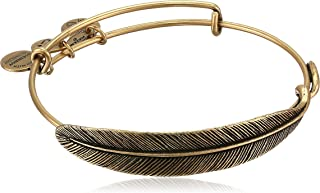 """product image for Alex and Ani Earth Sultry """"Quill Feather"""" Rafaelian Gold-Tone Finish Bracelet"""
