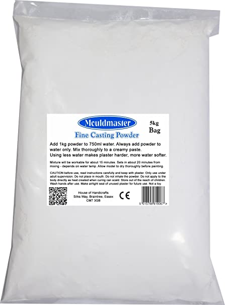 Mouldmaster 5 Kg Plaster of Paris, White
