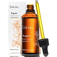 Gya Labs Organic Moroccan Argan Oil For Hair and Skin - Reduce Dry, Frizzy Hair and Dry Scalp - Boost Hair Growth and…