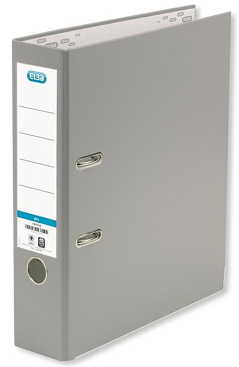 Elba Smart Pro 10456GR - Archivador (A4, 8 cm, etiquetas reemplazables, 10