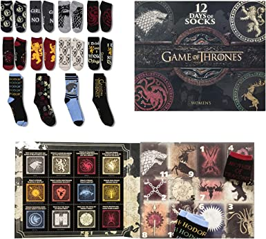Women S Game Of Thrones 12 Days Of Socks Advent Calendar Colors May Vary 4 10 At Amazon Women S Clothing Store