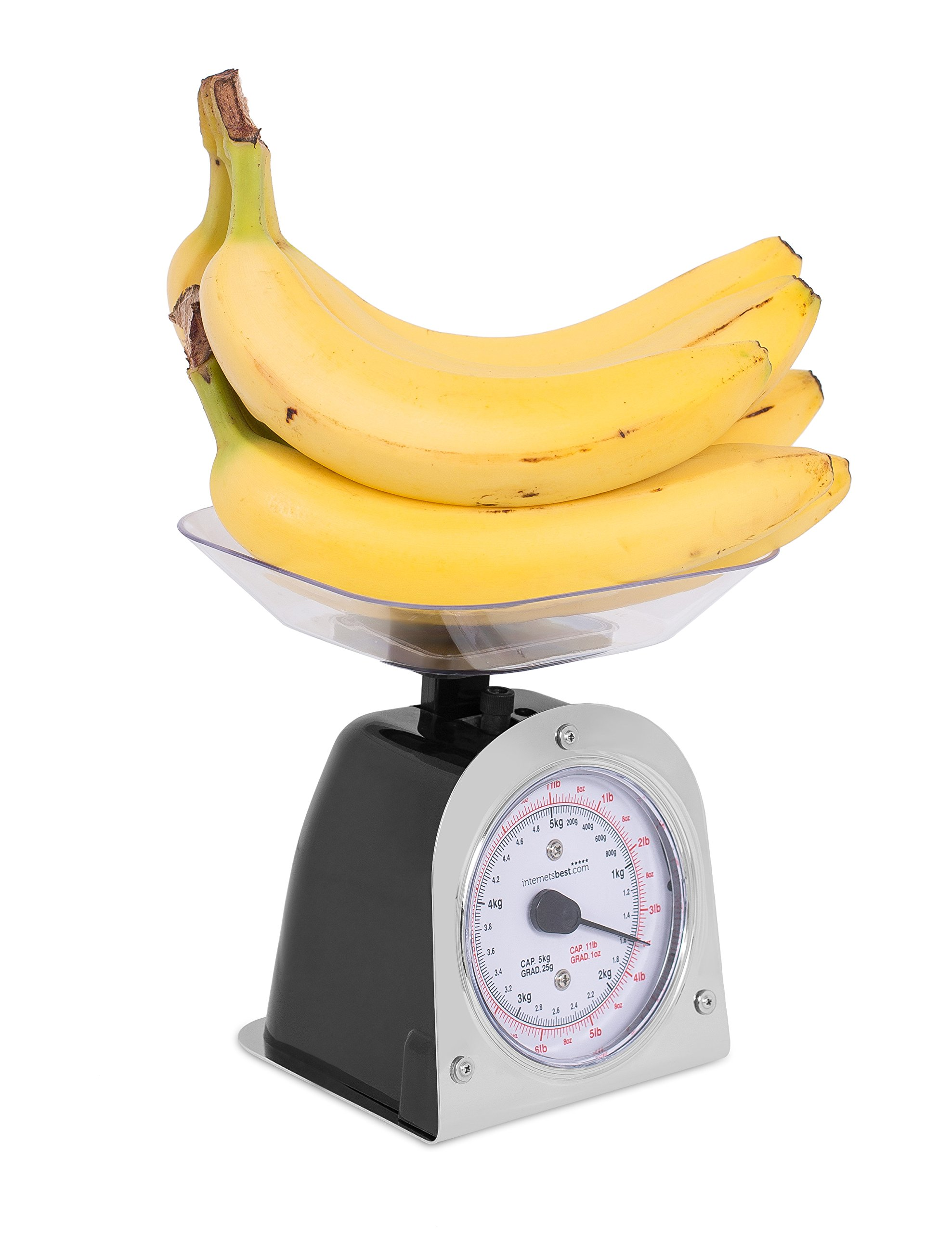 Internet's Best Mechanical Kitchen Food Weight Scale with Bowl | Accurate Measurements | Weighs Up 11 Lbs | 1KG - 5KG by Internet's Best (Image #7)