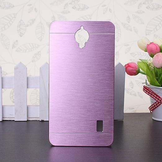 52 opinioni per Huawei Y635 Custodia, Wkae® lusso spazzolato copertura d'acciaio posteriore del