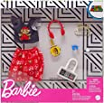 Barbie Storytelling Fashion Pack of Doll Clothes Inspired by Super Mario: Graphic Top, Print Skirt & 6 Video Game-Themed Accessories for Barbie Dolls, Gift for 3 to 8 Year Olds