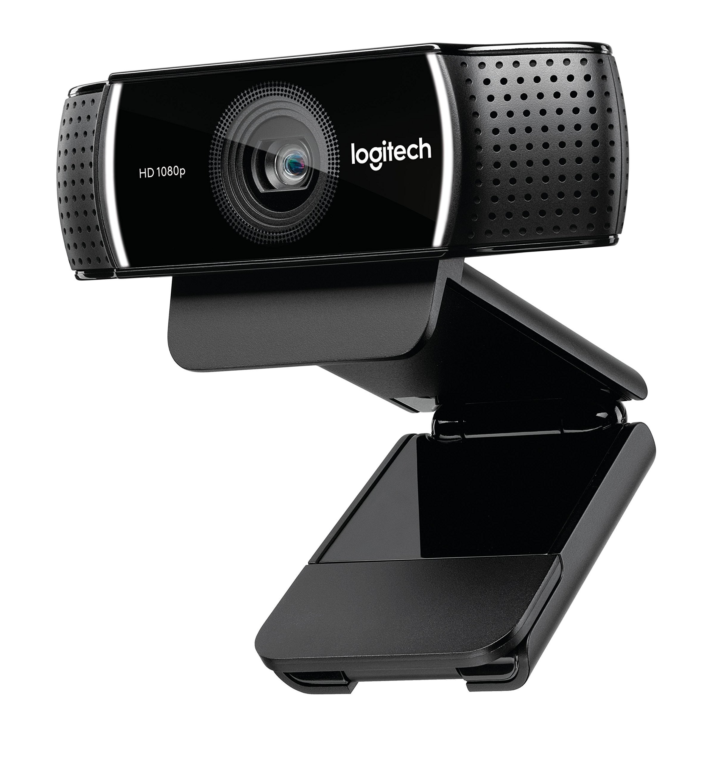 Logitech C922x Pro Stream Webcam – Full 1080p HD Camera – Background Replacement Technology for YouTube or Twitch Streaming (Certified Refurbished)