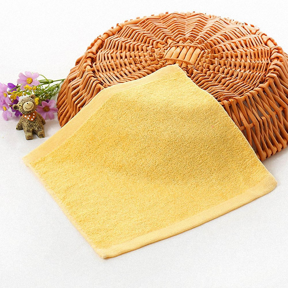 Amazon.com: Lictory 1pcs 25x25cm Square Solid Color Bamboo Fiber Soft Face Towel Cotton Hair Hand Bathroom Towels badlaken toalla Toallas Mano A: Home & ...