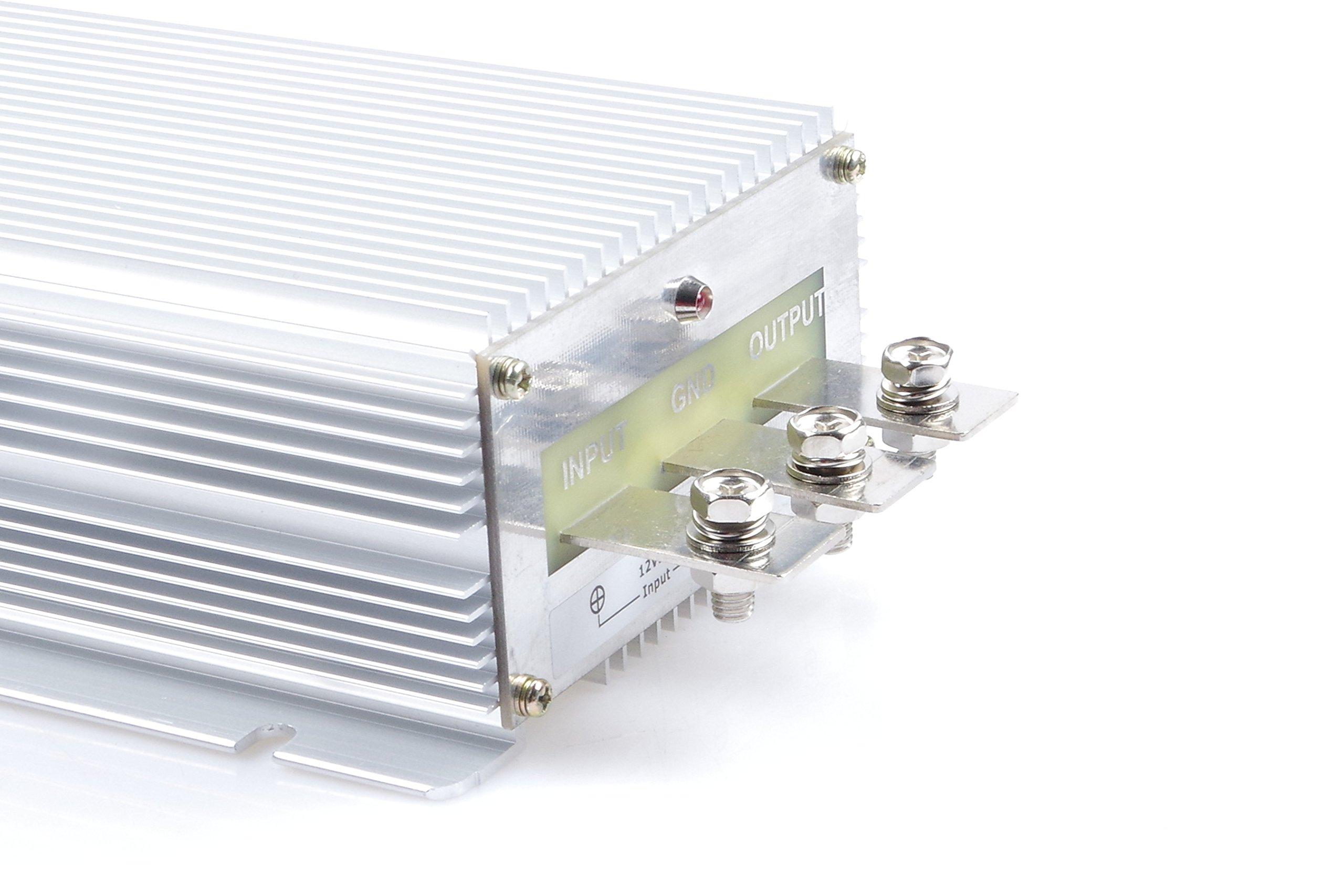 Voltage Converter Regulator DC/DC DC 12V Step-Up to DC 48V 15A 420W Power Boost Transformer Waterproof(IN DC 12V (10-18V), 48V 15A) by KNACRO (Image #6)