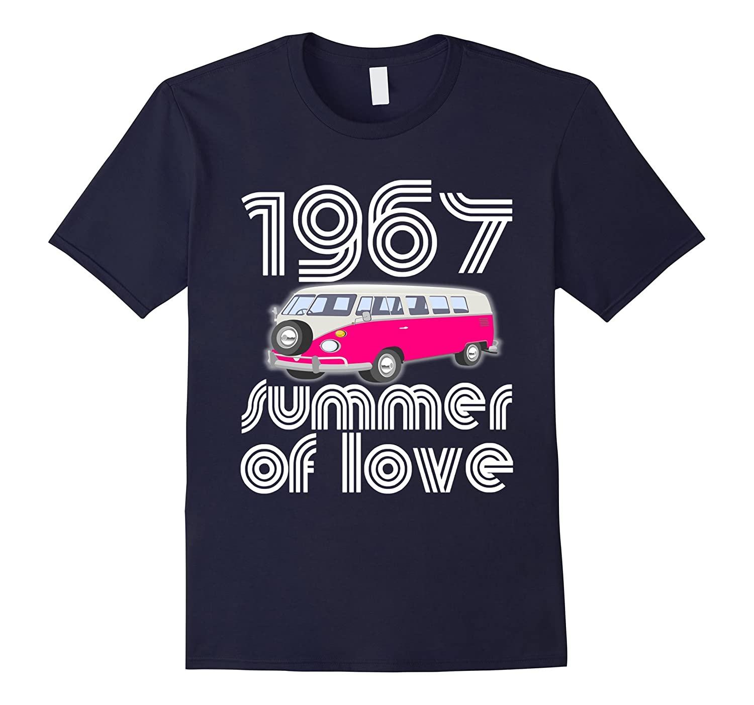 1967 Summer of Love Retro Tees Vintage Sixties Hippie Shirt-ANZ