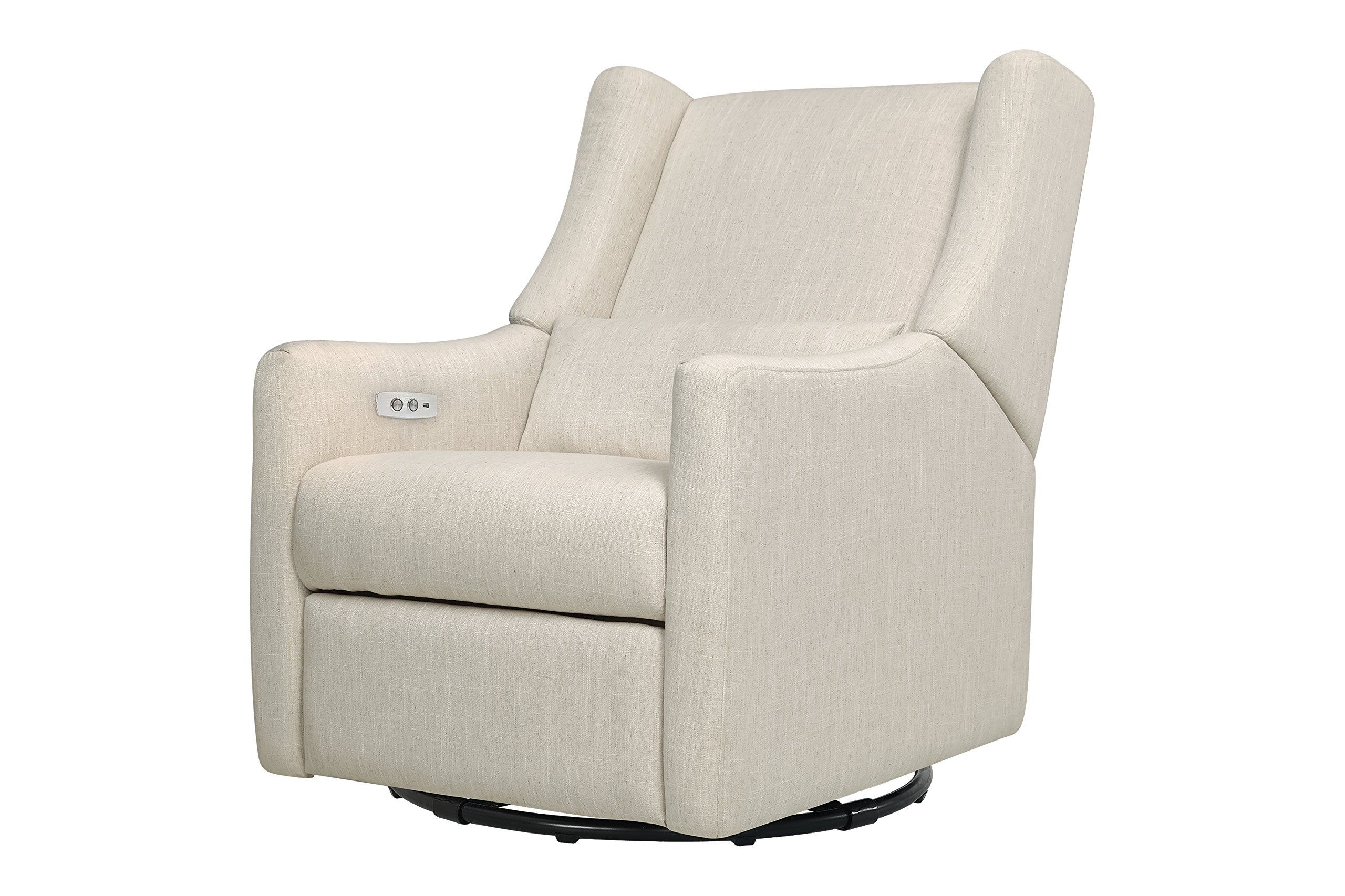 Babyletto Kiwi Electronic Recliner and Swivel Glider with USB Port, White Linen by babyletto
