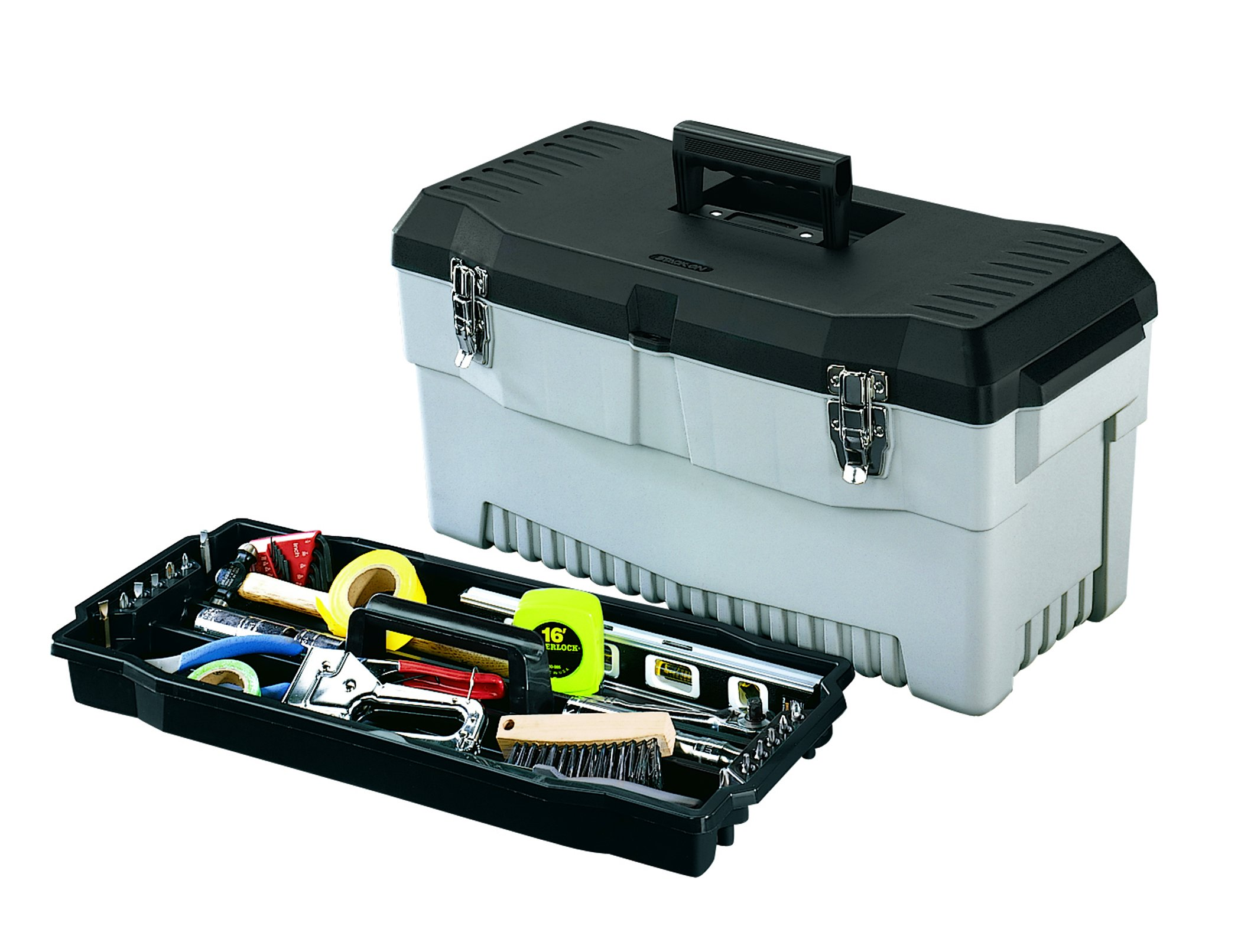 Stack-On PB-23 23-Inch Pro Tool Box, Black/Gray