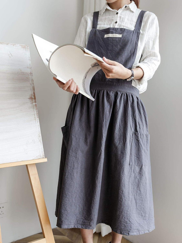 Marysa Apron Korean pleated skirt apron hotel coffee shop apron