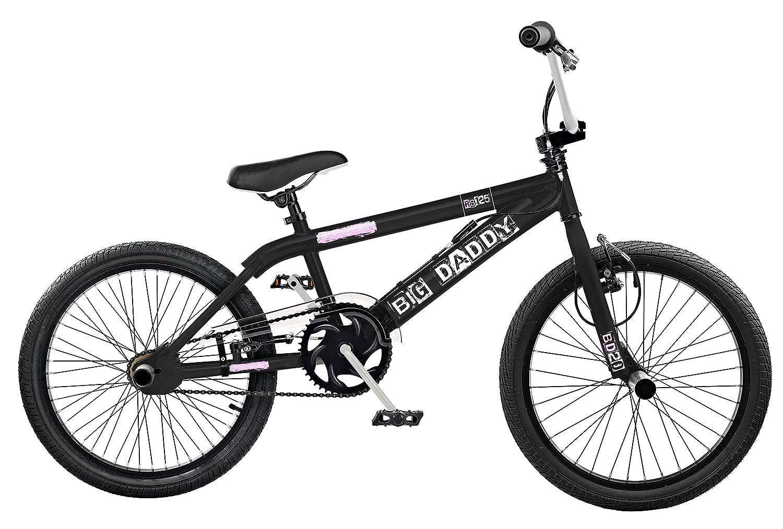 Rooster Big Daddy Kids 20' Wheel Freestyle BMX Bike Black White Gyro