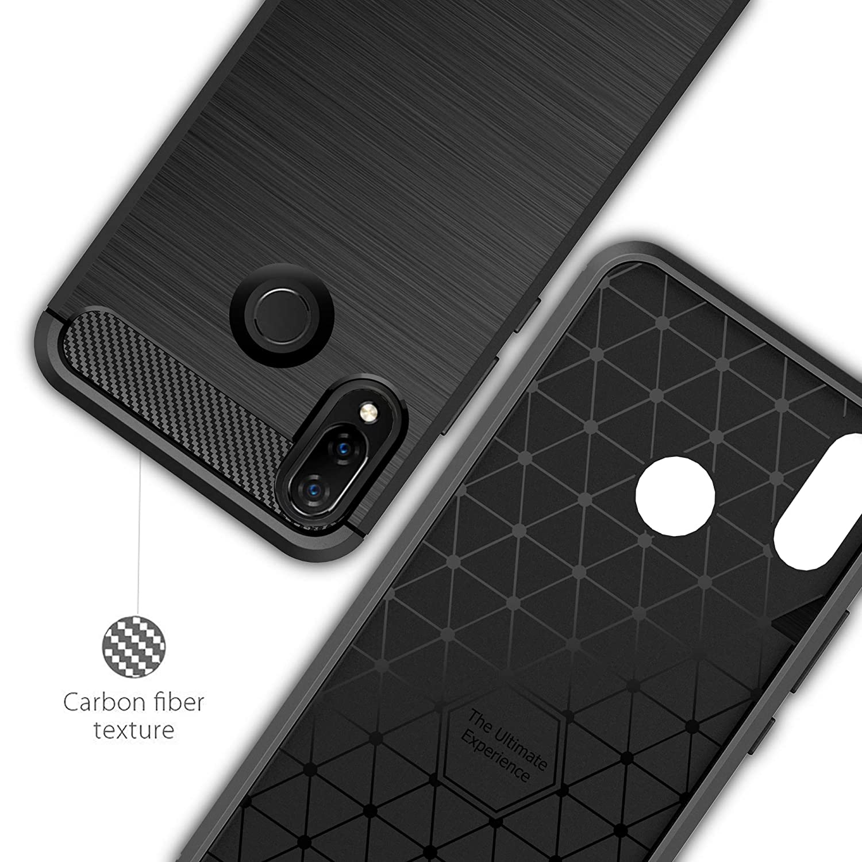 Coque-Etui-Housse-Silicone-brossee-Fibre-de-carbone-Noir-Protection-Huawei miniature 52