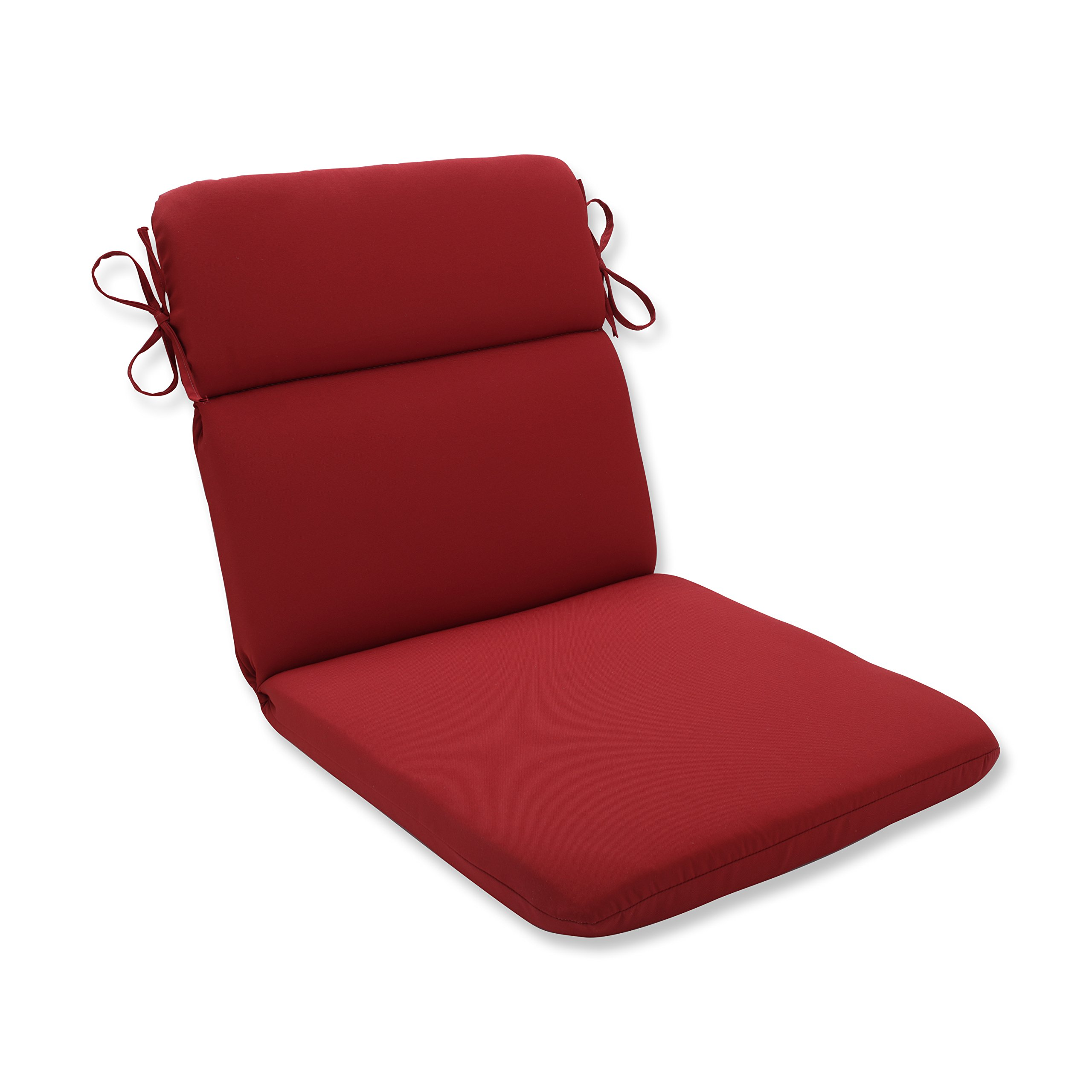 Pillow Perfect Indoor/Outdoor Red Solid Chair