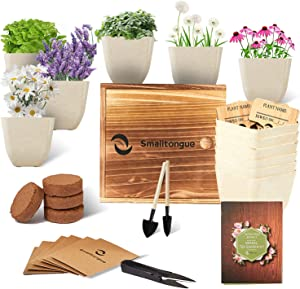 Smalltongue Indoor Herb Garden Kit-Herbal Tea Growing Kits, 6 Types of Herb Herbal Tea,Herbal Tea Growing Starter Kit for Beginner, Adult, Kitchen, Balcony, Window Sill