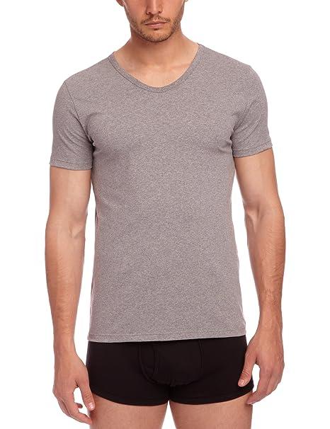 Tommy Hilfiger Stretch Vn - Camiseta con cuello de pico de manga corta para hombre, pack de 3: Amazon.es: Ropa y accesorios