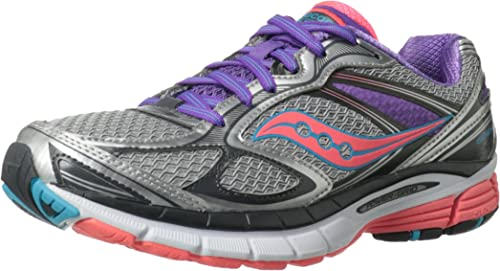 Amazon.com   Saucony Women's Guide 7 Running Shoe, Silver/Coral