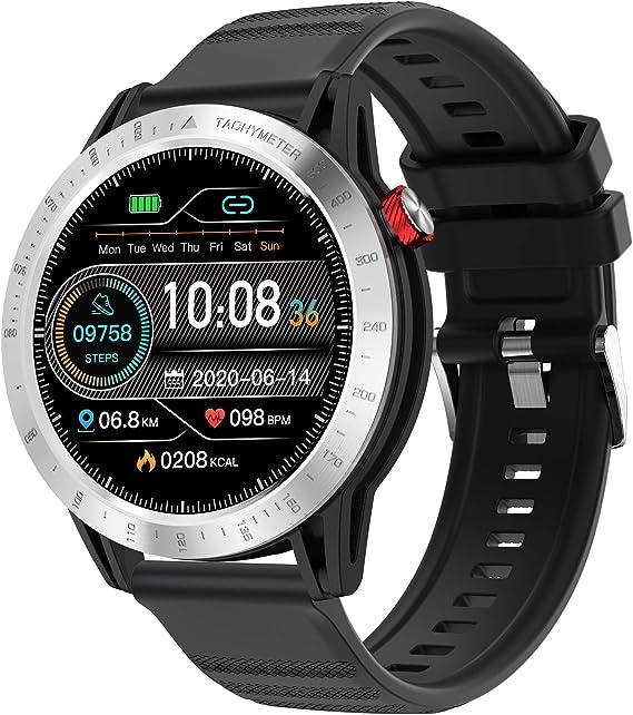 Voigoo Reloj Inteligente, Smartwatch Hombre 3ATM Impermeable con 10 Modos Deportivos Cronómetro Pulsómetro Pulsera Actividad Inteligente Smartwatch Android iOS para Xiaomi Huawei iPhoneTeléfono: Amazon.es: Electrónica