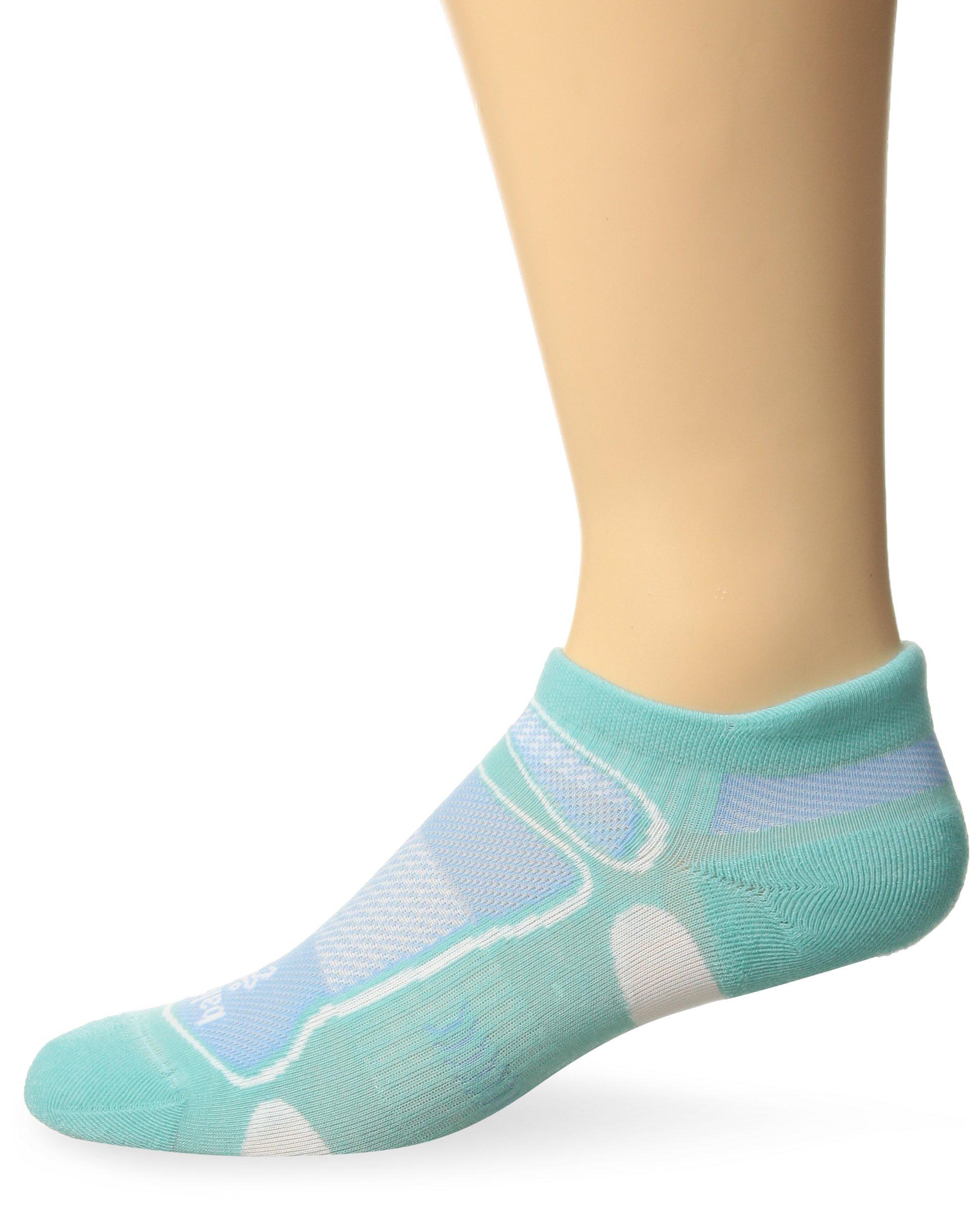 Balega Ultralight No Show Athletic Running Socks for Men and Women (1-Pair), Aqua, Small