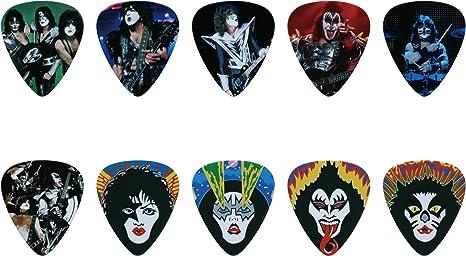 Kiss Juego de púa de guitarra (10pcs): Amazon.es: Instrumentos ...