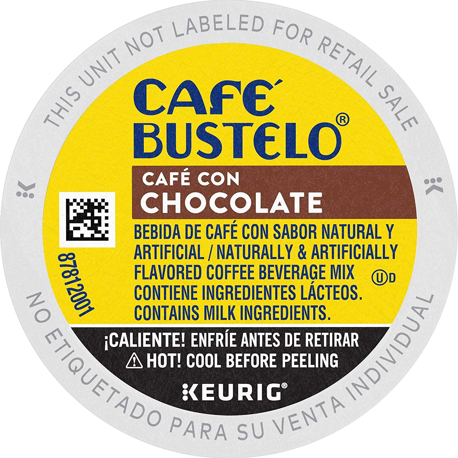 Cafe Bustelo Coffee Cafe Con Chocolate Flavored Espresso Style Coffee, 60 K Cups for Keurig Coffee Makers