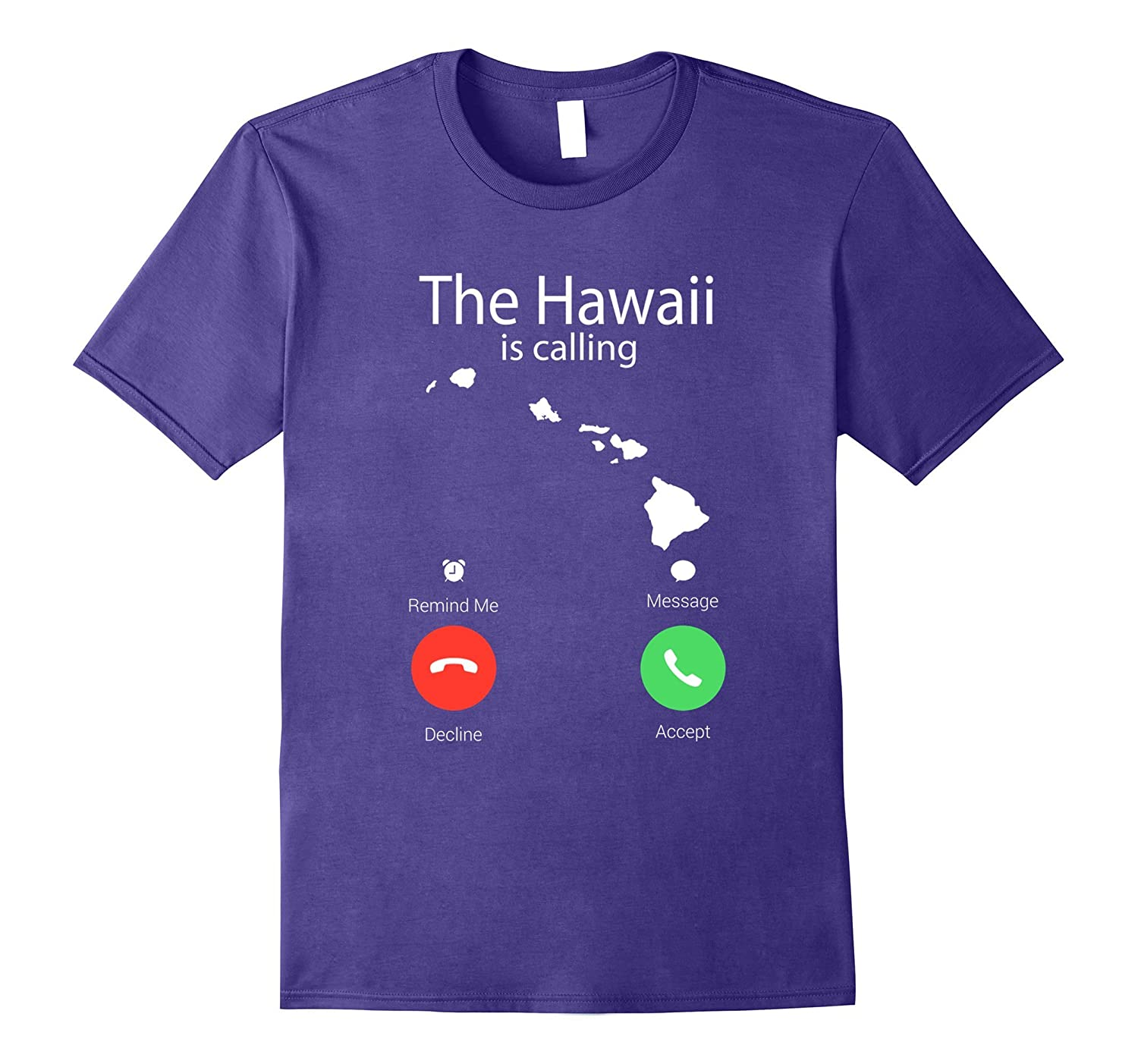 The Hawaii is Calling State Flag Map Vintage Shirt-T-Shirt