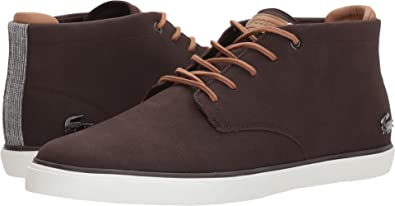4e9e8f8a8 Lacoste Mens 735CAM0026-LIGHT Brown Dark Esparre Chukka 118 1 Sneaker Brown  Size