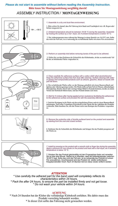 Maniglie cromate satinate opache per Focus II dal 2008 in poi protezione maniglia in acciaio inox