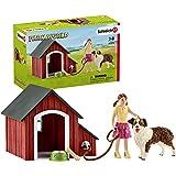 Schleich SC42376 Dog Kennel Figurine, Red