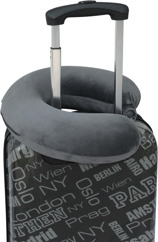 Dunkelblau Memory-Schaum-F/üllung Premium Nackenkissen Nackenh/örnchen Nackenst/ütze waschbar -Abnehmbarer Bezug
