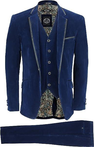 """Navy Blue Velvet Jacket 46 /""""Long"""