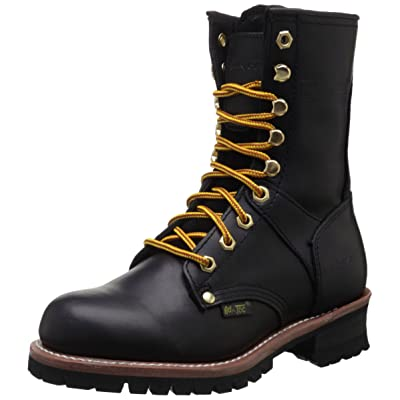 "AdTec Women's 9"" Logger Black Work Boot: Shoes"