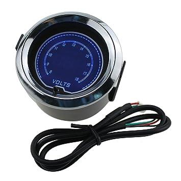 IZTOSS 2 pulgadas 52 mm azul 7 Color luz LED Turbo Boost Gauge Medidor de vacío coche digital humo Len: Amazon.es: Coche y moto