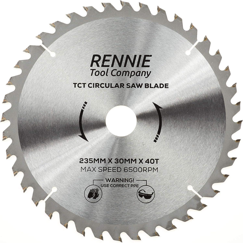 Rennie Tool TCT Hoja de sierra circular para madera incluye anillos de reducci/ón