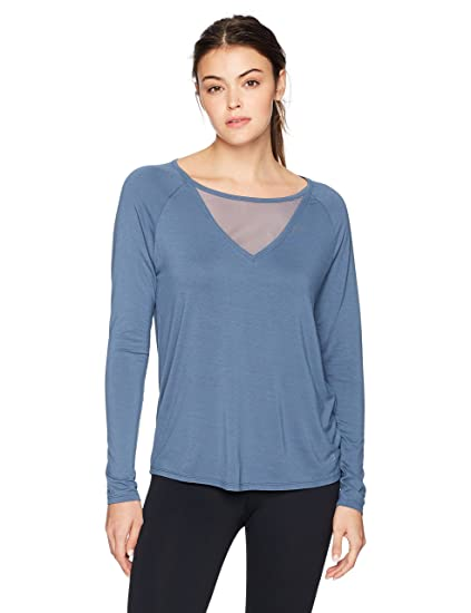 d941f94fde Amazon.com: Danskin Women's Mesh Insert Long Sleeve Tee: Clothing