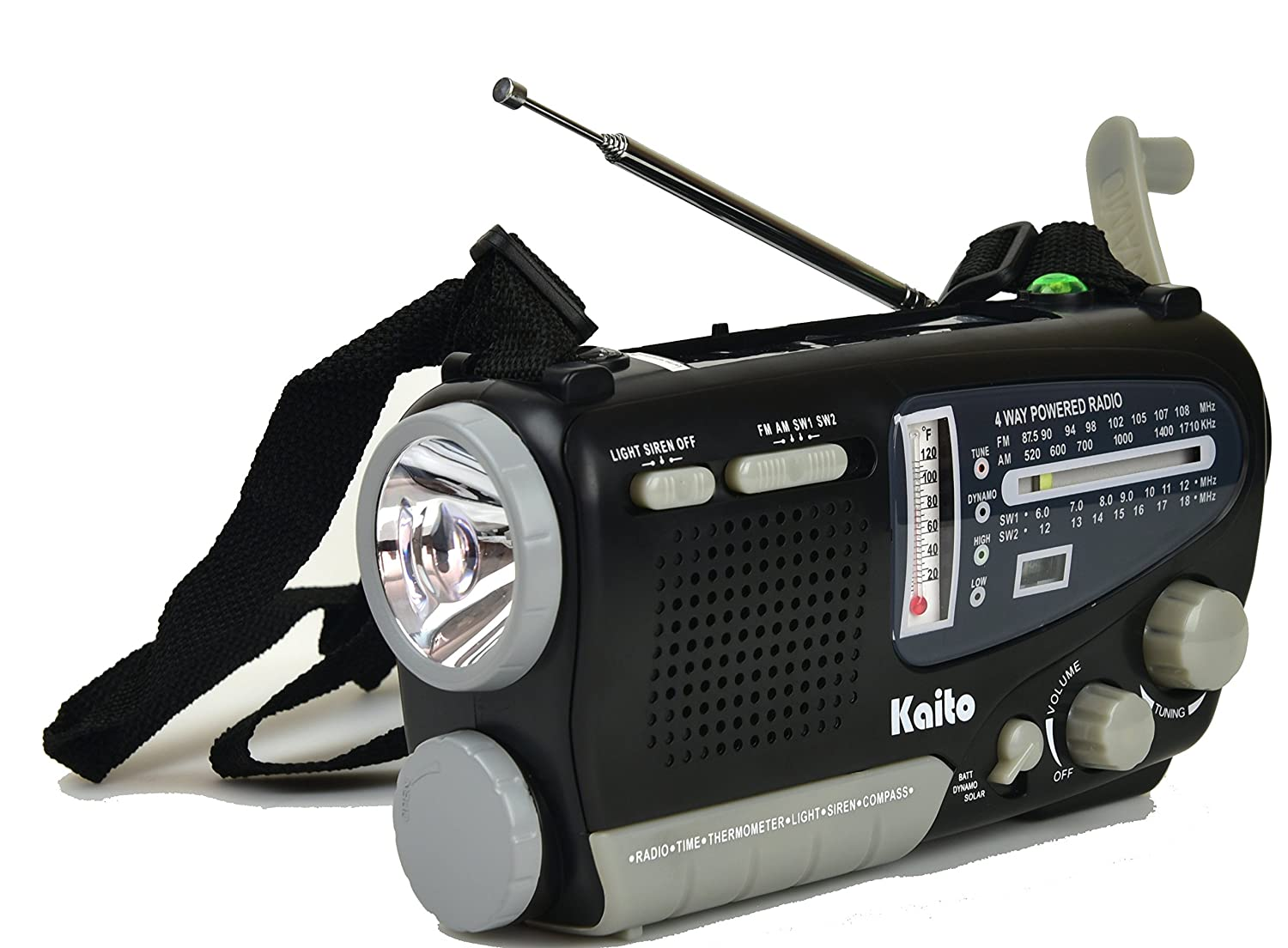 Amazon.com: Kaito KA888 4-way Powered Emergency Radio, AM FM Shortwave  Bands, and Comes with Alarm Clock, Thermometer,Compass and Flashlight: Home  Audio & ...