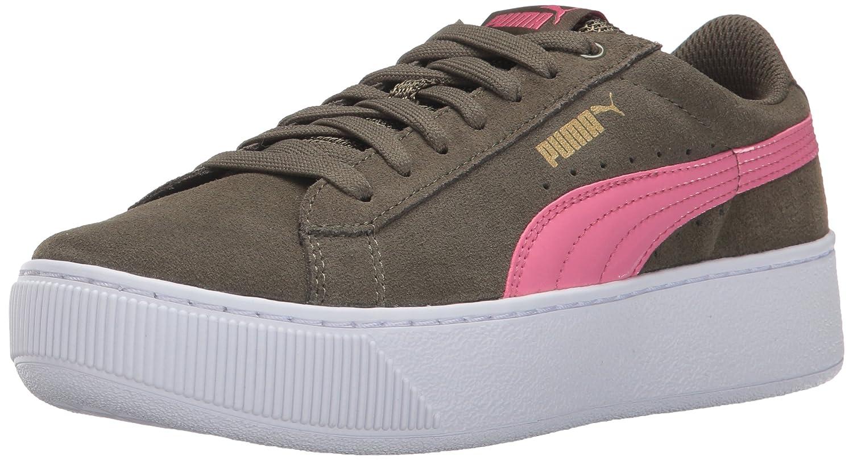 Puma Damen Vikky Platform Sneakers Olive Night-rapture Rose