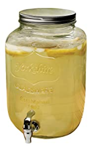 Circleware Yorkshire 2-Gallon Beverage Dispenser, Clear