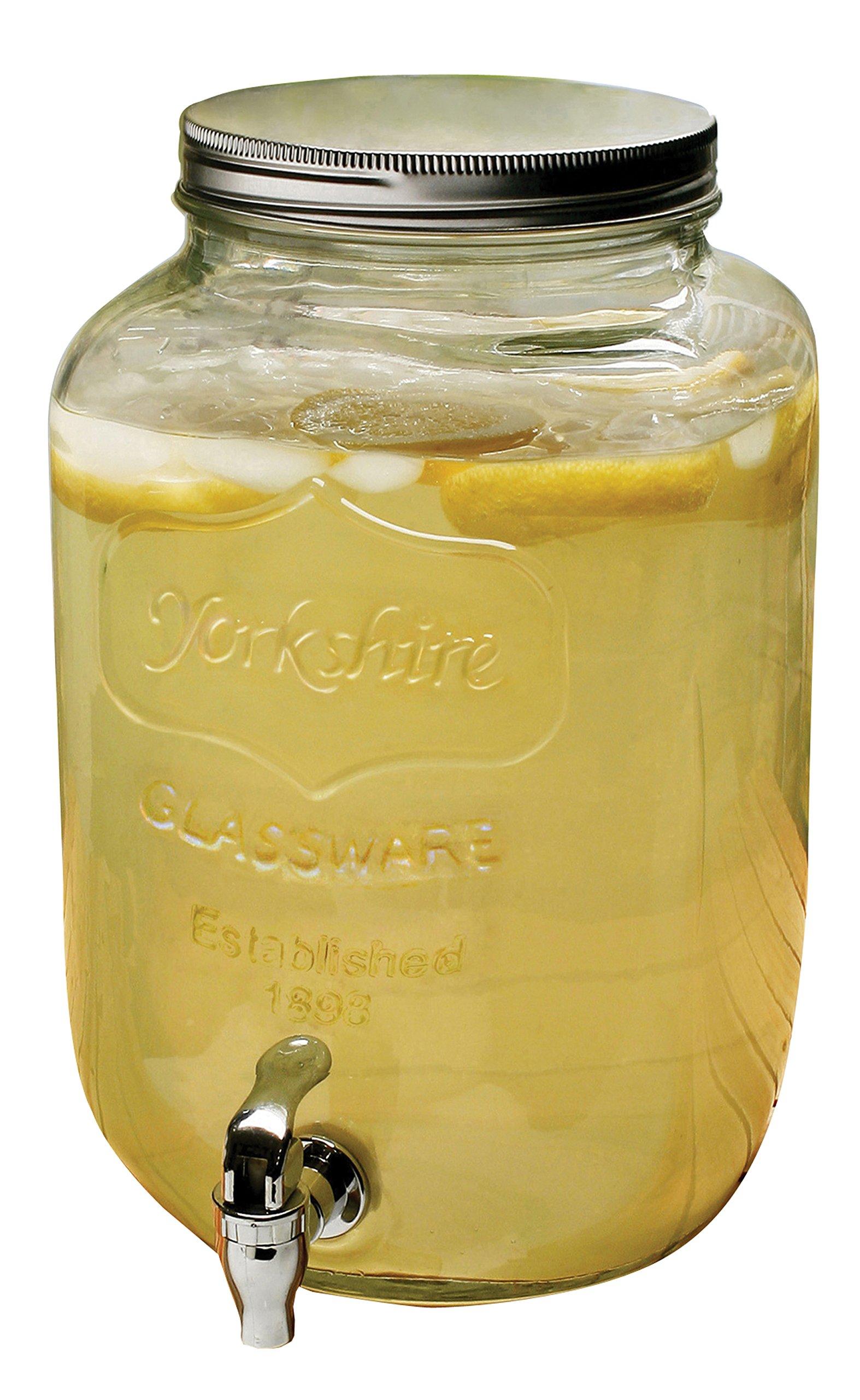 Circleware Yorkshire 2-Gallon Beverage Dispenser, Clear