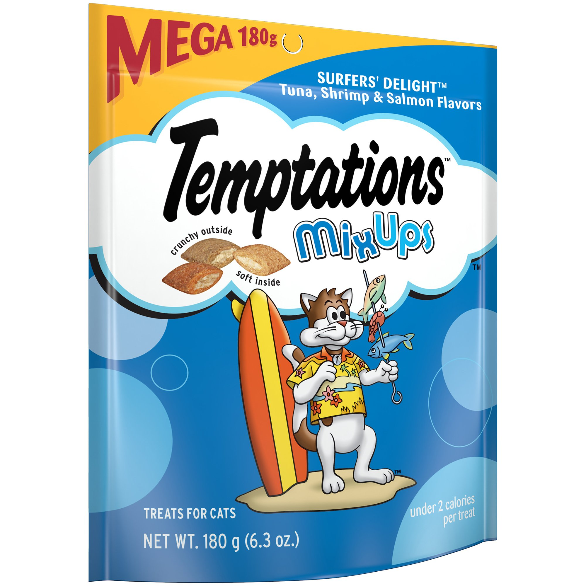 Temptations Mixups Cat Treats Surfer'S Delight Flavor, (10) 6.3 Oz. Pouches