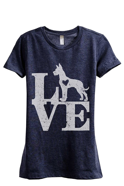 310f467ce Amazon.com: Love Great Dane Dog Women's Fashion Relaxed T-Shirt Tee:  Clothing