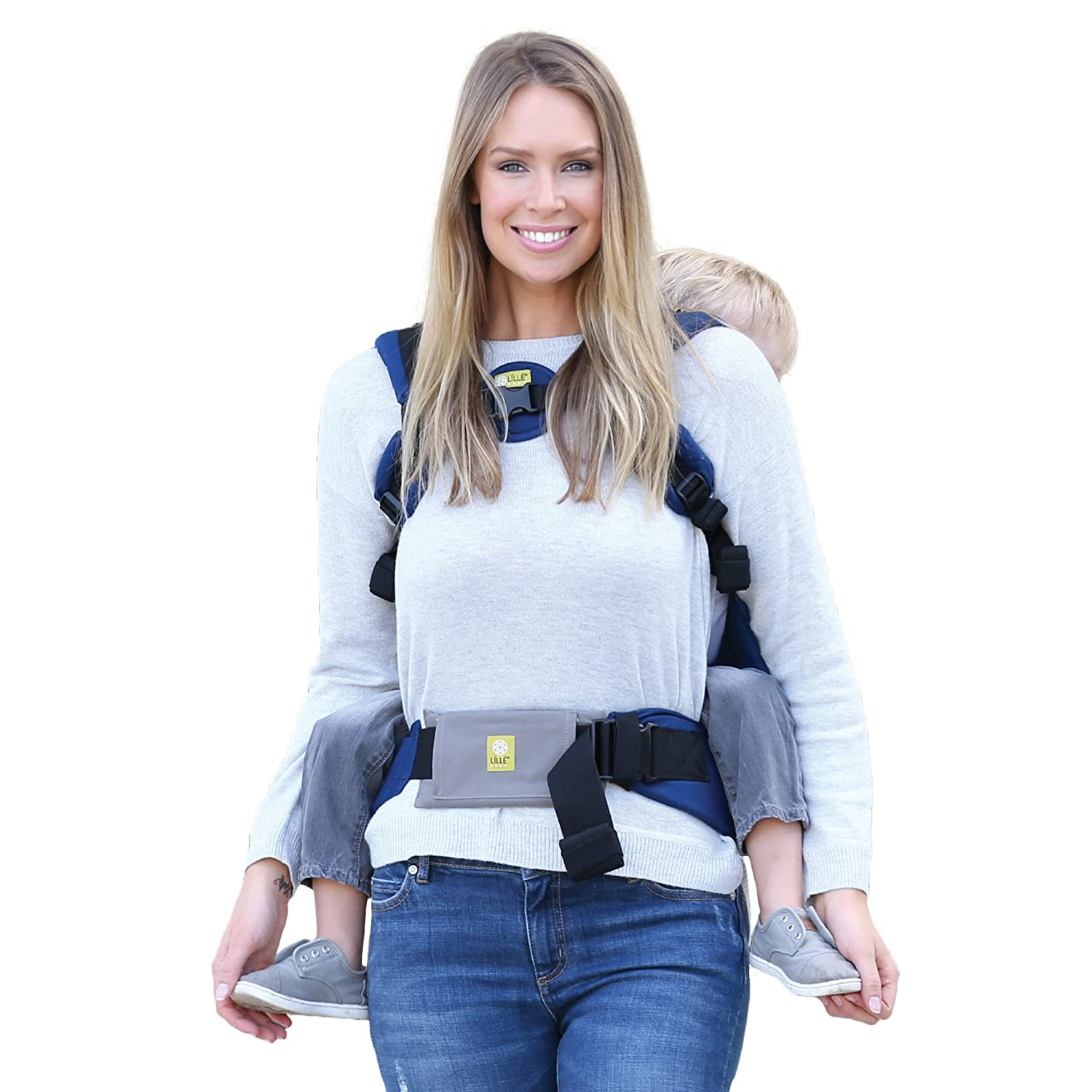 LÍLLÉbaby Baby Carrier Tummy Pad, Black (Medium) LILLEbaby ASC-TS-18-BM