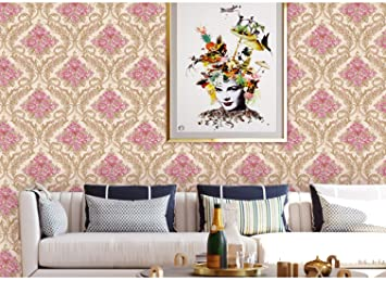 Buy Jaamso Royals Vinyl Damask Self Adhesive Peel And Stick Wallpaper Contact Paper 45 X 1000 Cm Multicolor Self Adhesive Wallpaper 9009 Jrw Online At Low Prices In India Amazon In