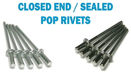 Sealed Closed End Dome Head Alum steel Blind Pop Rivets 75 piece
