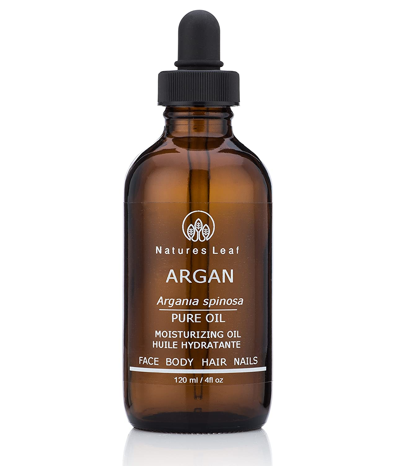 Natures Leaf Virgin Organic Moroccan Gold Argan Oil 100% Pure/Cold Pressed/Fair Trade/Unrefined/Anti-Aging/Split Ends/Frizzy's/Stretch Marks/Nails/Dry Scalp/Non-Irritating
