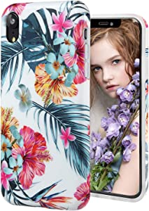 iPhone XR Case,DICHEER Cute Spring Garden for Men Women Girls,Clear Bumper Glossy TPU Silicon Rubber Soft Cover Anti Scratch Protective Phone Case for iPhone XR 6.1 inch