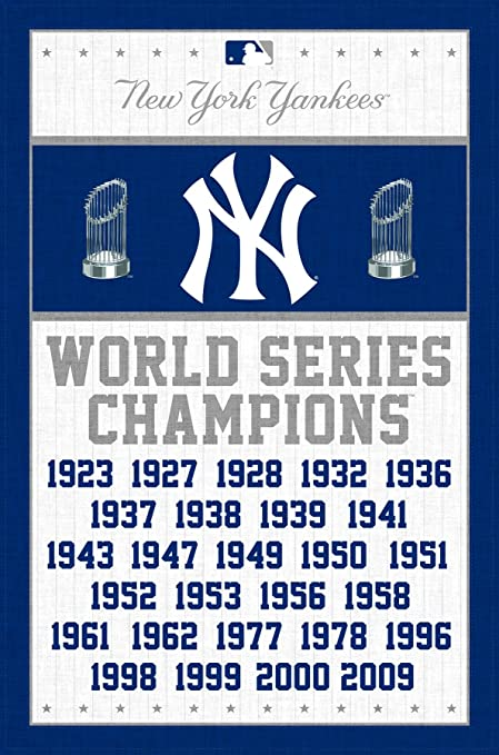 """Trends International New York Yankees Champions Wall Posters, 22"""" by  34"""""""