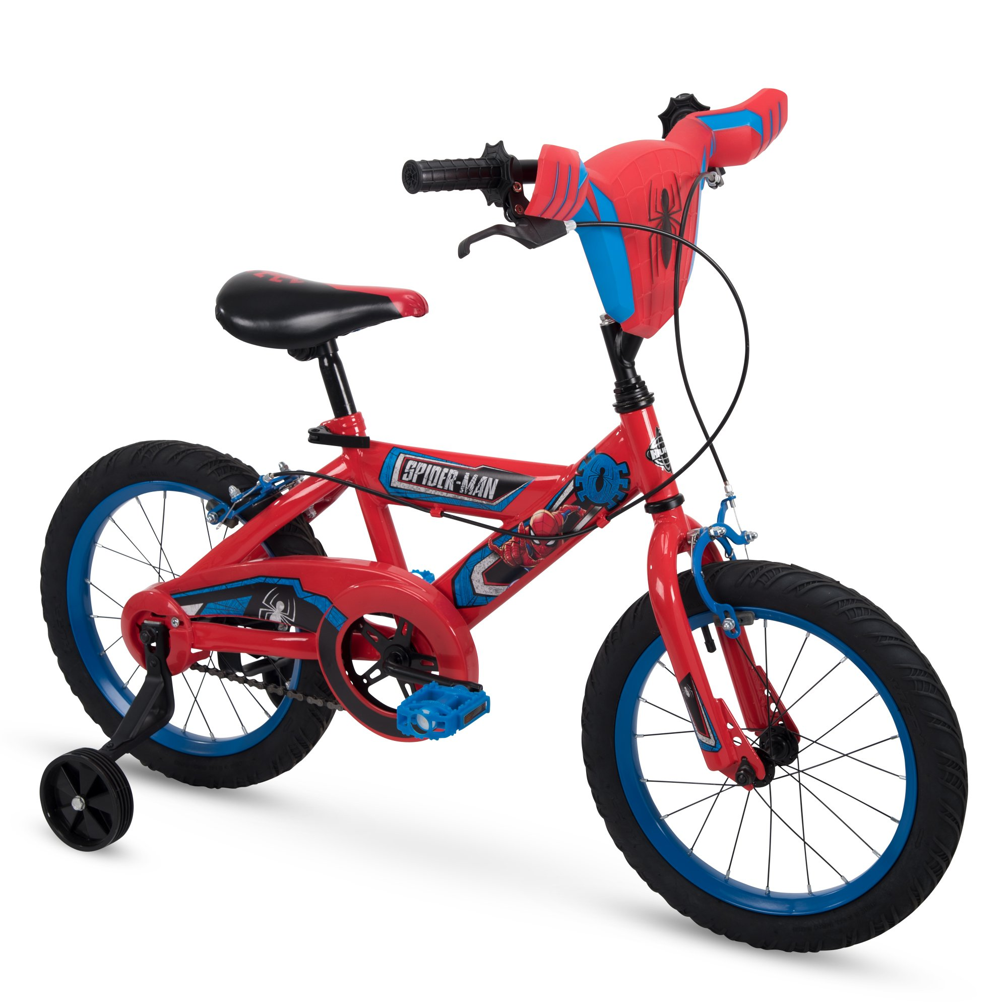 """Huffy Bicycle Company 16"""" Marvel Spider-Man Boys Bike by Huffy, Handlebar Plaque, Red product image"""