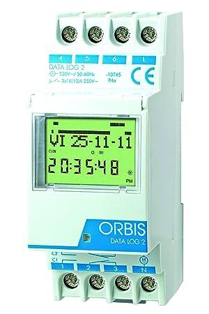 Orbis Data Log 2 230 V Interruptor horario Digital de Distribuidor, OB175012: Amazon.es: Bricolaje y herramientas